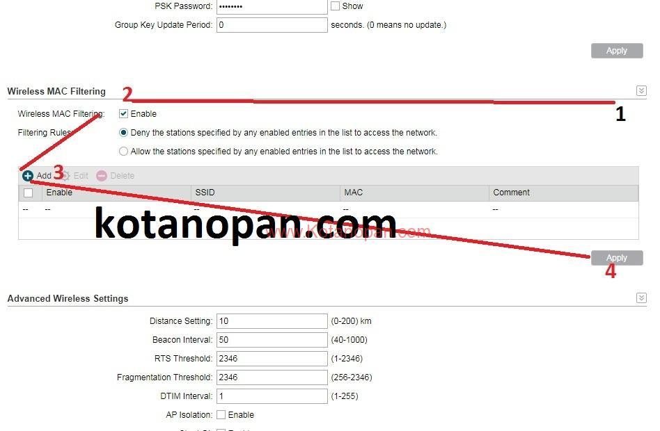 Cara Memblokir Perangkat Pada Wifi Dengan Mac Address Filtering