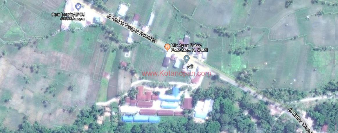 peta mie ayam bakso Podomoro kotanopan mandailing natal sumatera utara (2)
