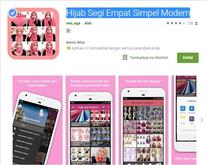 Aplikasi Tutorial Hijab Segi Empat Simpel Modern