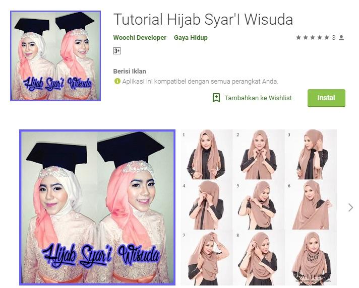 1.Tutorial Hijab Syar'I Wisuda