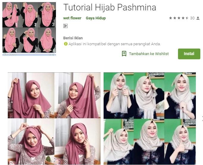 cara tutorial mengunakan Hijab Pasmina