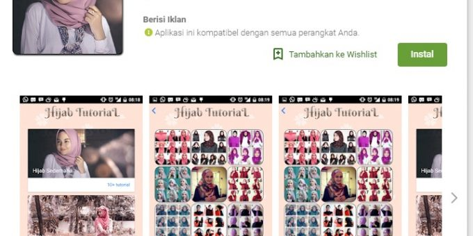4. Aplikasi Hijab Tutorial Simple