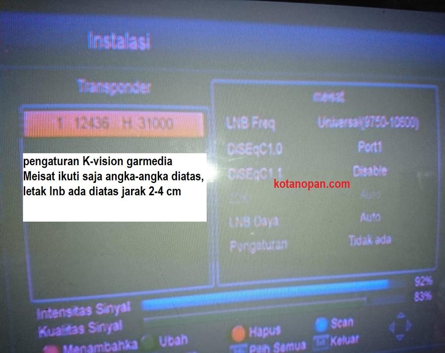 pengaturan frekuensi transponder meisat garmedia
