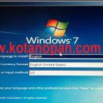 Cara Instal Windows 7 Mengunakan USB Flashdisk Pada Laptop dan Komputer