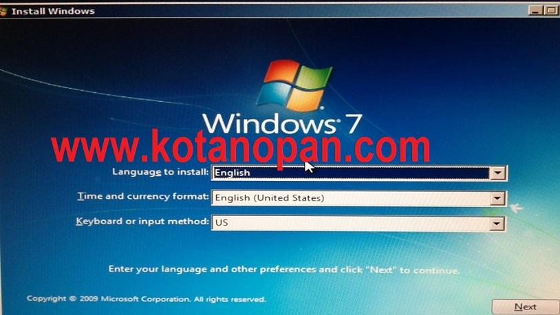 Cara Instal Windows 7 Mengunakan USB Flashdisk Pada Laptop dan Komputer 2