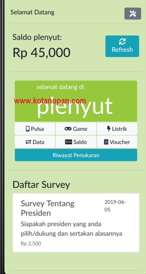 Download Aplikasi Plenyut Penghasil Pulsa Gratis 2019