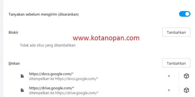 caraMenghilangkan Iklan Notifikasi Di Browser chrome, mozila firefox dan opera akan coba admin kotanopan.com bahas.
