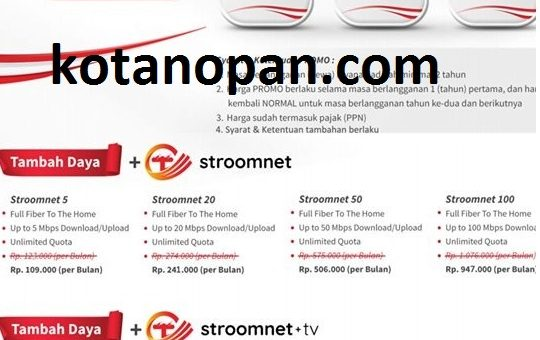 Cara daftar Internet Stroomnet dan Stroomnet TV dari PLN selagi Promo