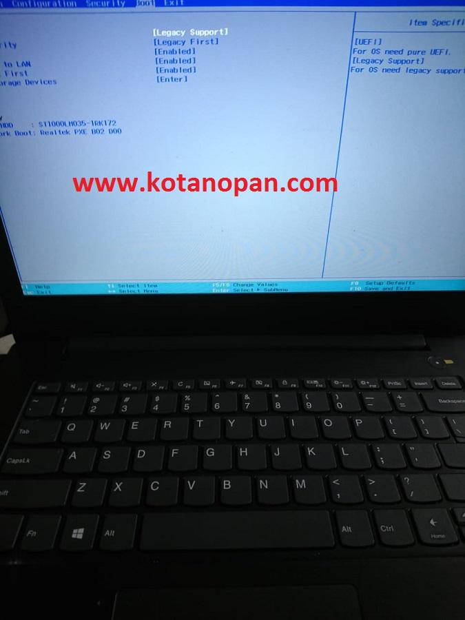 Solusi Instal Ulang Laptop Lenovo V330-14IKB ke Windows 7 64Bit Keyboard Dan touchpad tidak berfungsi