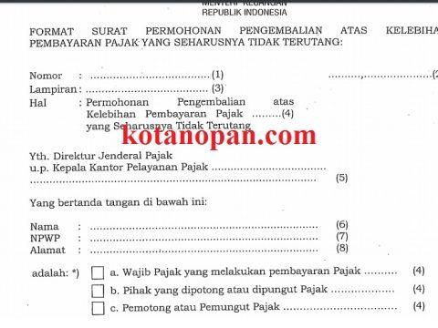 Download Formulir Pajak Restitusi