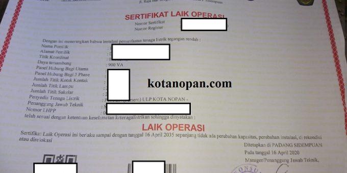 Cara dan Biaya Pengurusan SLO Surat Laik Operasi Untuk Instalasi Listrik PLN