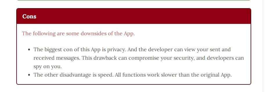 Kelebihan dan Bahaya mengancam Dibalik Aplikasi WAMod, sepertinya sudah saatnya kami membahasnya, karena saat ini semakin banyak orang yang mengunakan APlikasi Whatsapp modifikasi dari pihak ke tiga, baik itufmwhatsapp,Whatsapp Plus APK ataupun yang pernah tenar beberapa waktu lalu GBWhatsapp. Namun masalahnya banyak pihak yang kurang menyadari bahaya dan masalah penting yang ada dibalik pengunaan aplikasiWhatsapp pihak ketiga ini, salah satu masalah paling bahaya adalah Privasi, atau pengembang bisa menyadap setiap percakapan whatsapp pesan kita.
