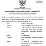 Akhir Perjuangan H. M. Sofwat Nasution dan Ir. Zubeir Lubis di MK